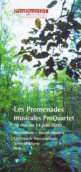 Programme concert Promenades musicales Seine-et-Marne